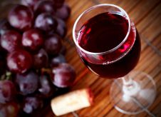 Red home-made wine